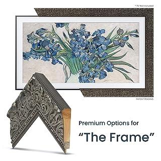 "Deco TV Frames - Tuscan Silver Frame Custom for Samsung The Frame TV (55"")"
