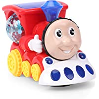 Ramakada Musical Engine Train Toy with Light and Sound, Multi Color