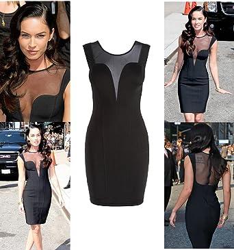 Megan Fox Mesh Kleid schwarz Gr. M Mini Women: Amazon.de: Bekleidung
