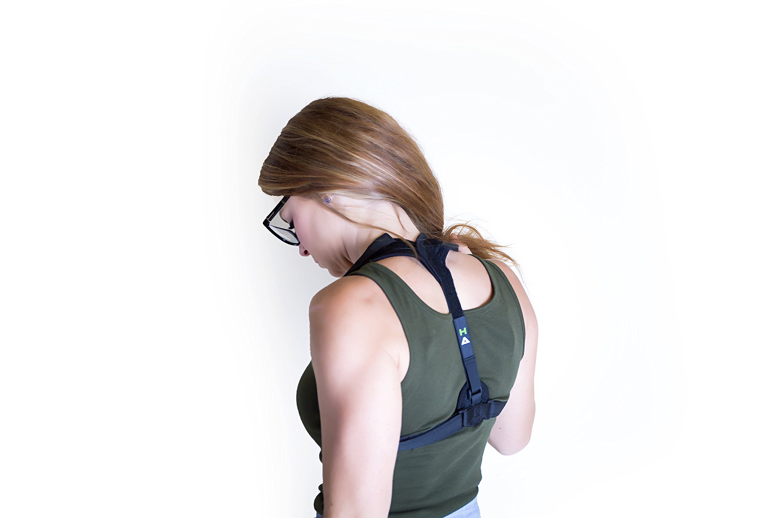 Hardihood Athletics Posture Corrector - Orthopedic Trainer Brace for Women or Men - Comfortable Breathable Device to Fix Upper Lower Back Shoulder and Neck Pain - Adjustable Clavicle Support Bands