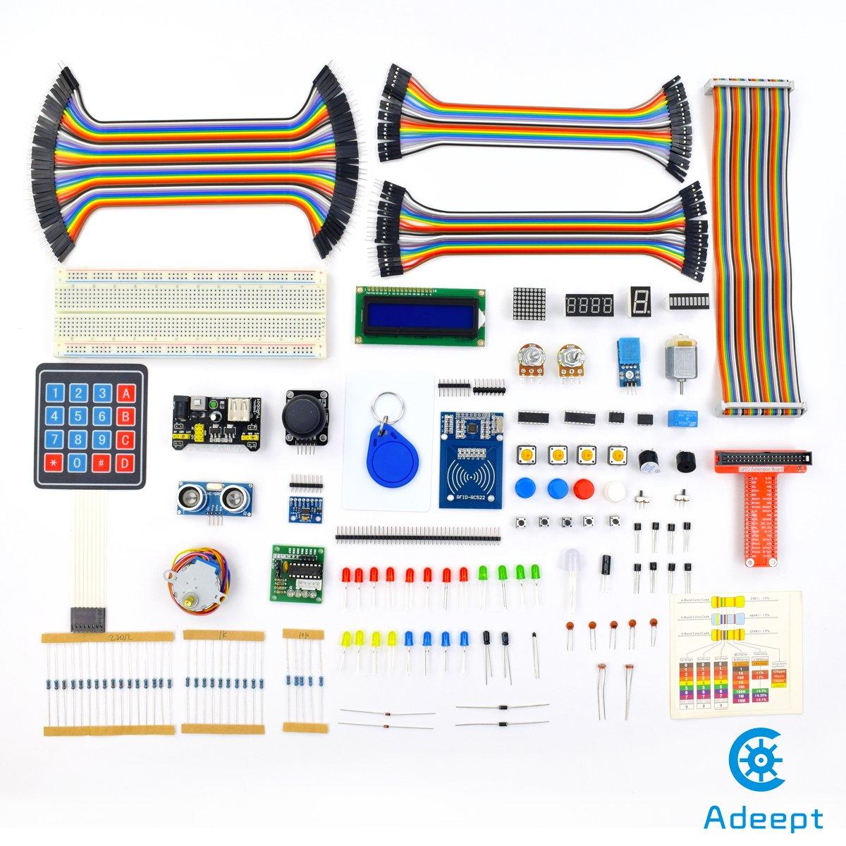 Adeept Rfid Starter Kit For Raspberry Pi 3 2 Model B Stepper Wiringpi Spi Write Motor Adxl345 40 Pin Gpio Extension Board With C And Python Code Beginner Learning