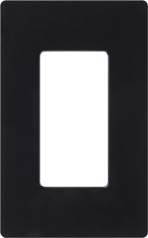 Lutron Claro 1 Gang Decorator Wallplate, CW-1-BL, Black