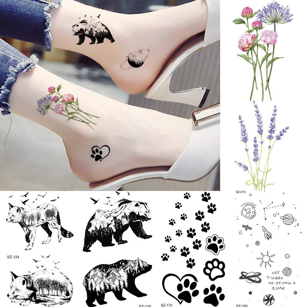 Tatuajes Temporales Niños Tatuaje Impermeable Mujeres Cuerpo Brazo ...