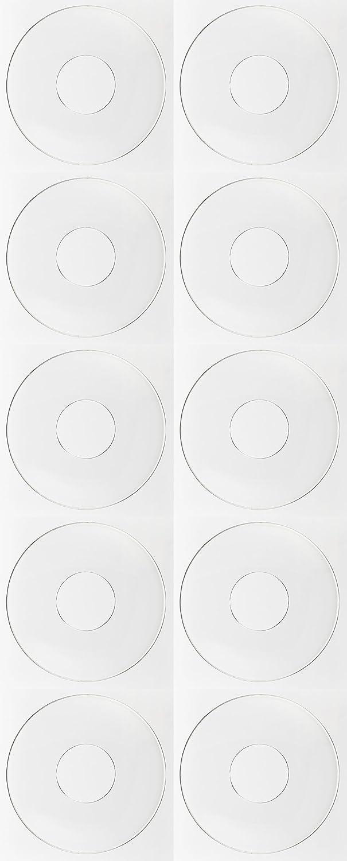 TrendLight ® 890033-10 - Raccoglitore di gocce per candele, 10 pezzi ondulati di vetro, diametro interno 25 mm, colore: Chiaro