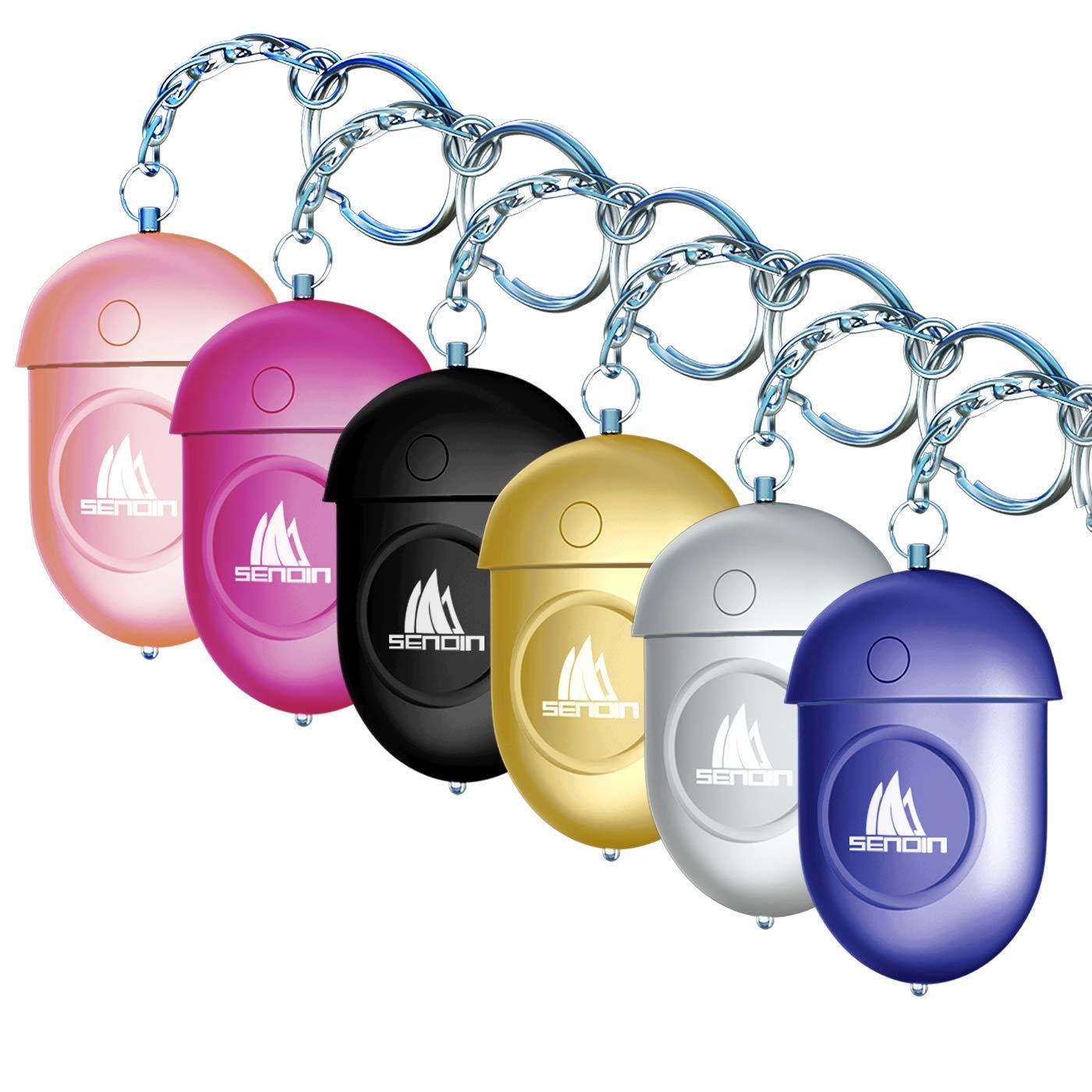 autodefensa de Emergencia para Mujeres ni/ños y Ancianos Sendin Safe Sound Llavero con Alarma Personal de 130DB con luz LED Alarma Personal