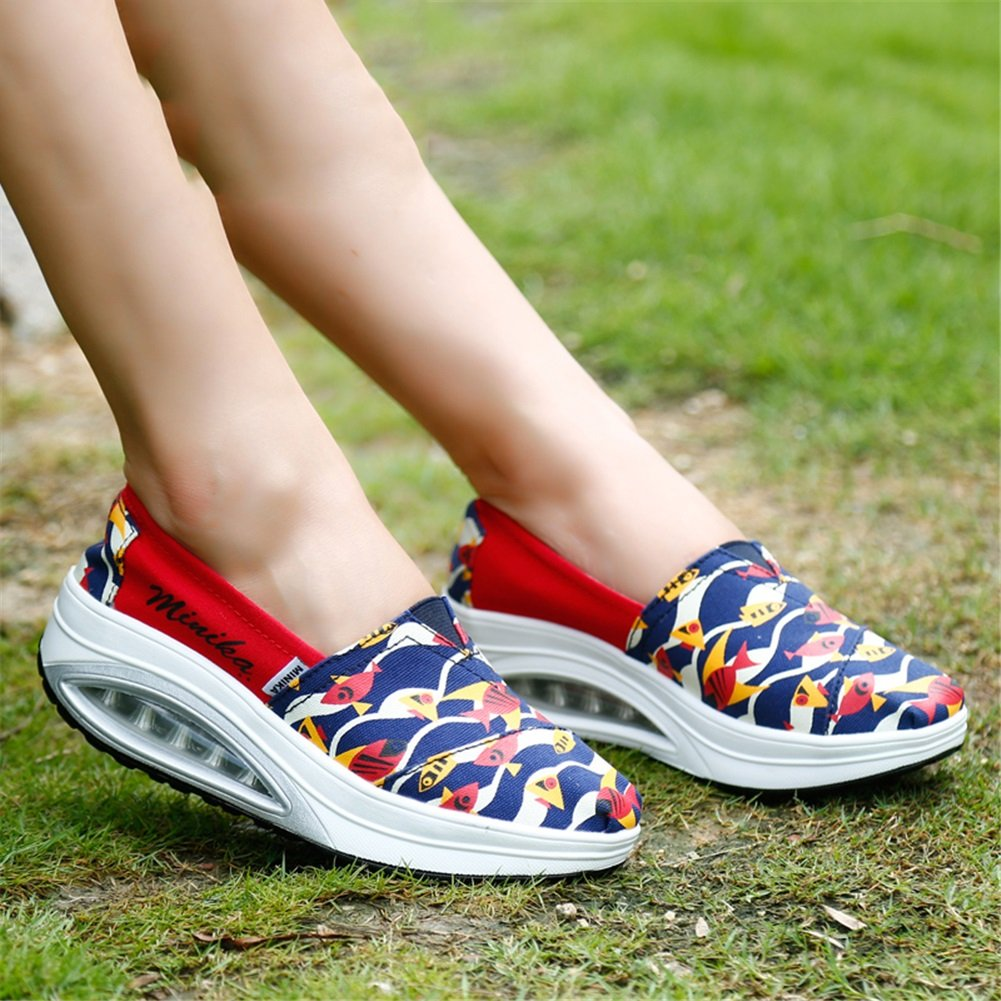 XUE Damenschuhe Mesh Frühling Herbst Loafers Fitness & Slip-Ons Driving Schuhes Fitness Loafers Shake Schuhes Shake Schuhe Shaking Schuhes Flache Loafers Casual Sneakers Sportschuhe Plateauschuhe (Farbe : B, Größe : 35) 6de478