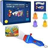 Gfordt Kid Projector Story Book Torch Night Light Theater Torch 4 Fairy Tale Slide 32 Illustration Bedtime Story Toy