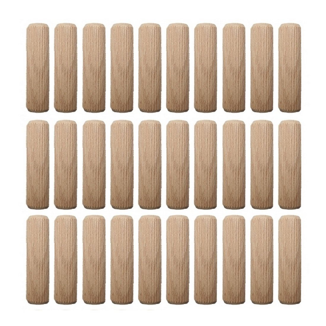 0014 Holzd/übel Riffeld/übel Holzverbinder FSC 12x50mm 40 St/ück