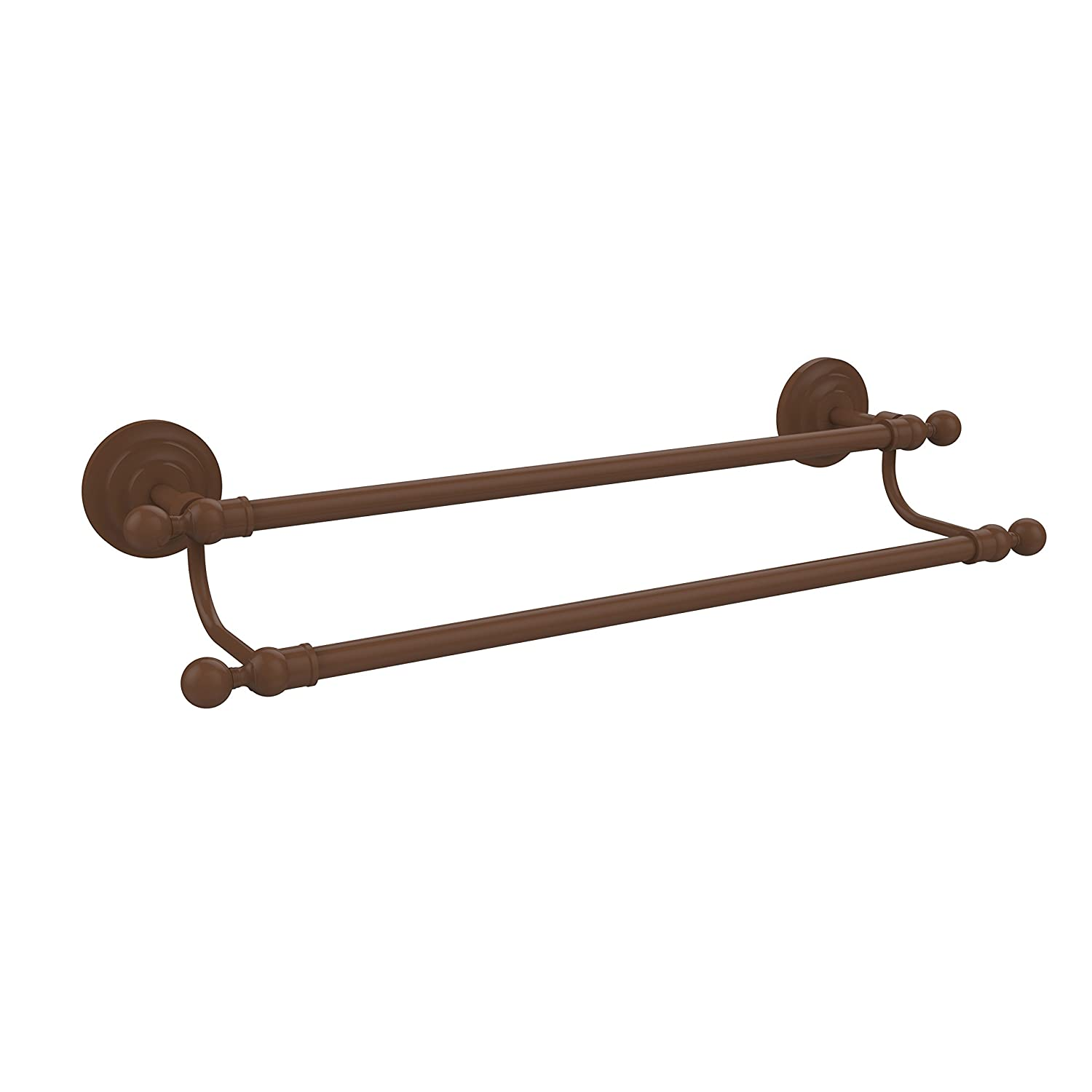 Antique Bronze Allied Brass QN-72 18-ABZ Que New Collection 18 Inch Double Towel Bar, Antique Bronze