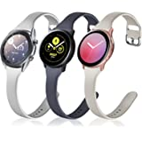 ZEBRE 3-Pack Slim Bands Compatible with Galaxy Watch Active 2 Bands 40mm 44mm / Galaxy Watch 3 Bands 41mm / Galaxy Watch Acti