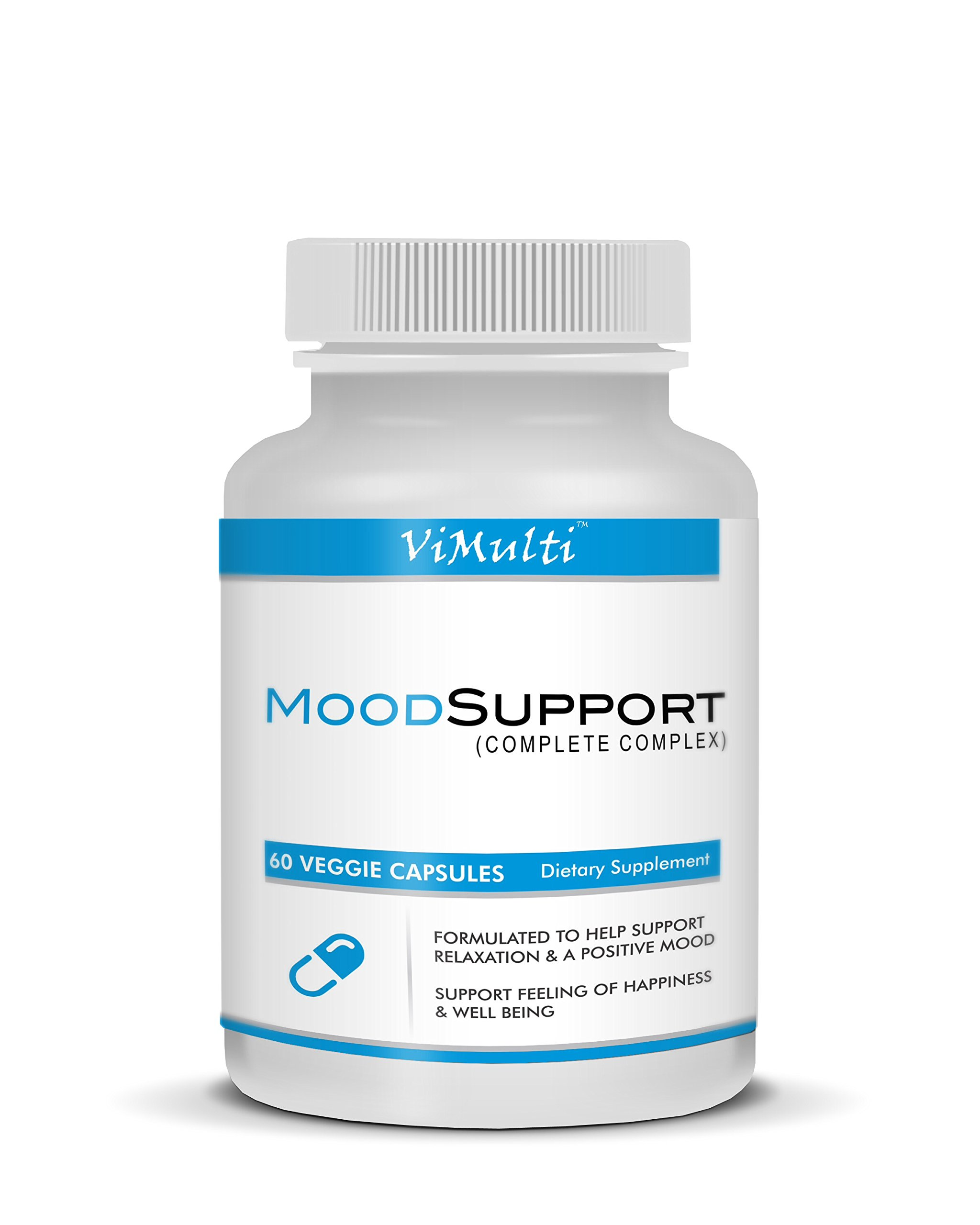 Vimulti Depression Pills with Anxiety Relief Vitamins. Eliminate Mood Swings Vitamins for Depression W Mood Enhancers