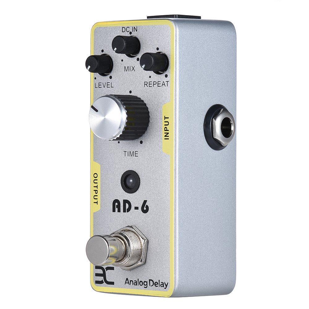 EX AD-6 Analog Delay Pedal Mini Delay Guitar Pedals with Plump Smooth New Delay Effects by EX