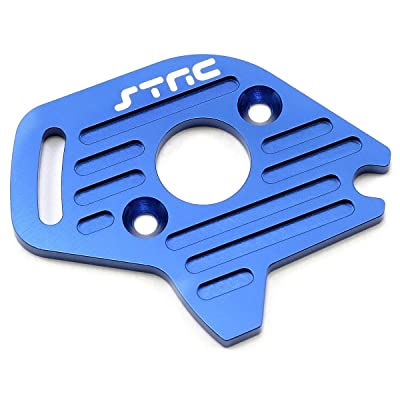 ST Racing Concepts ST6890B Aluminum Heatsink Finned Motor Plate for Slash 4 x 4, Blue: Toys & Games