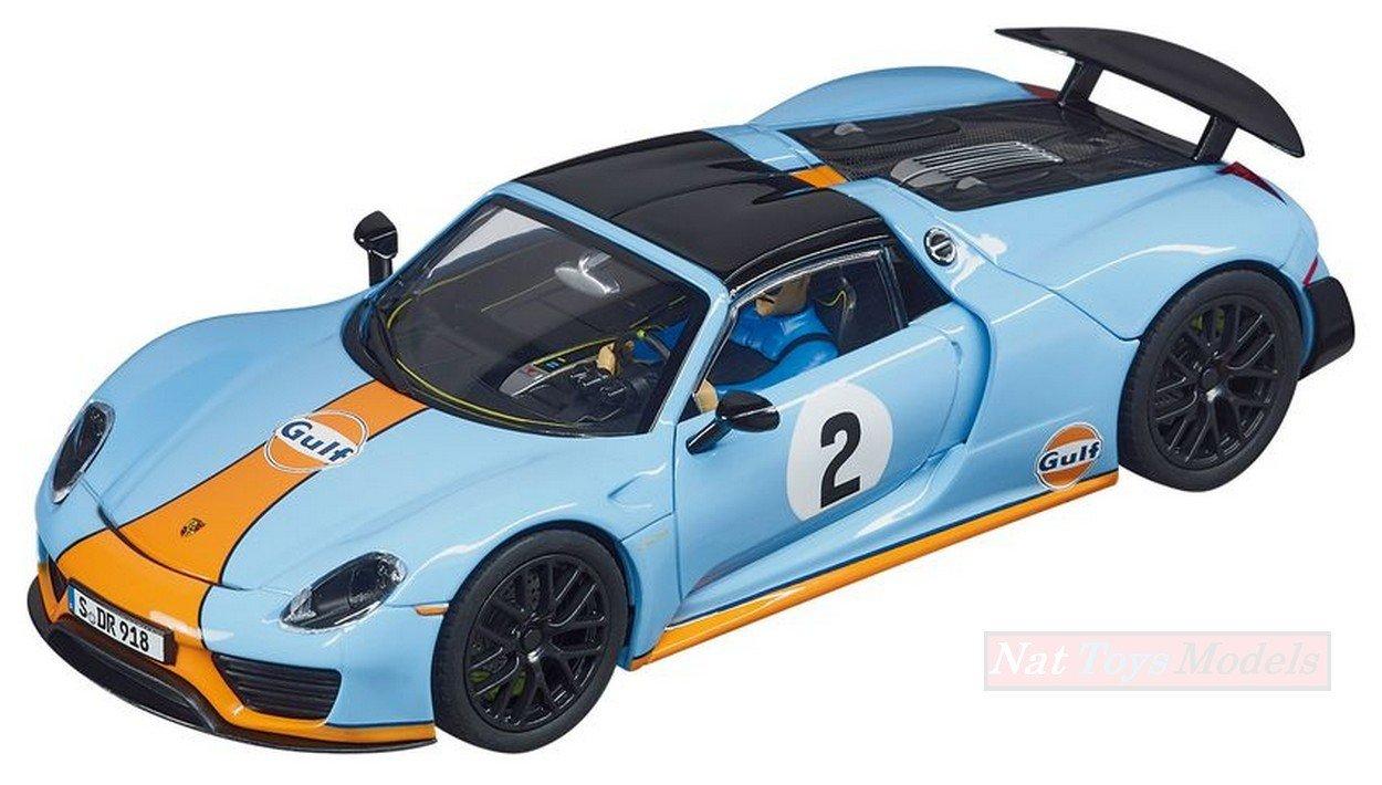 CARRERA CAR27549 PORSCHE 918 SPYDER  GULF RACING  N.2 1 32 MODELLINO DIE CAST