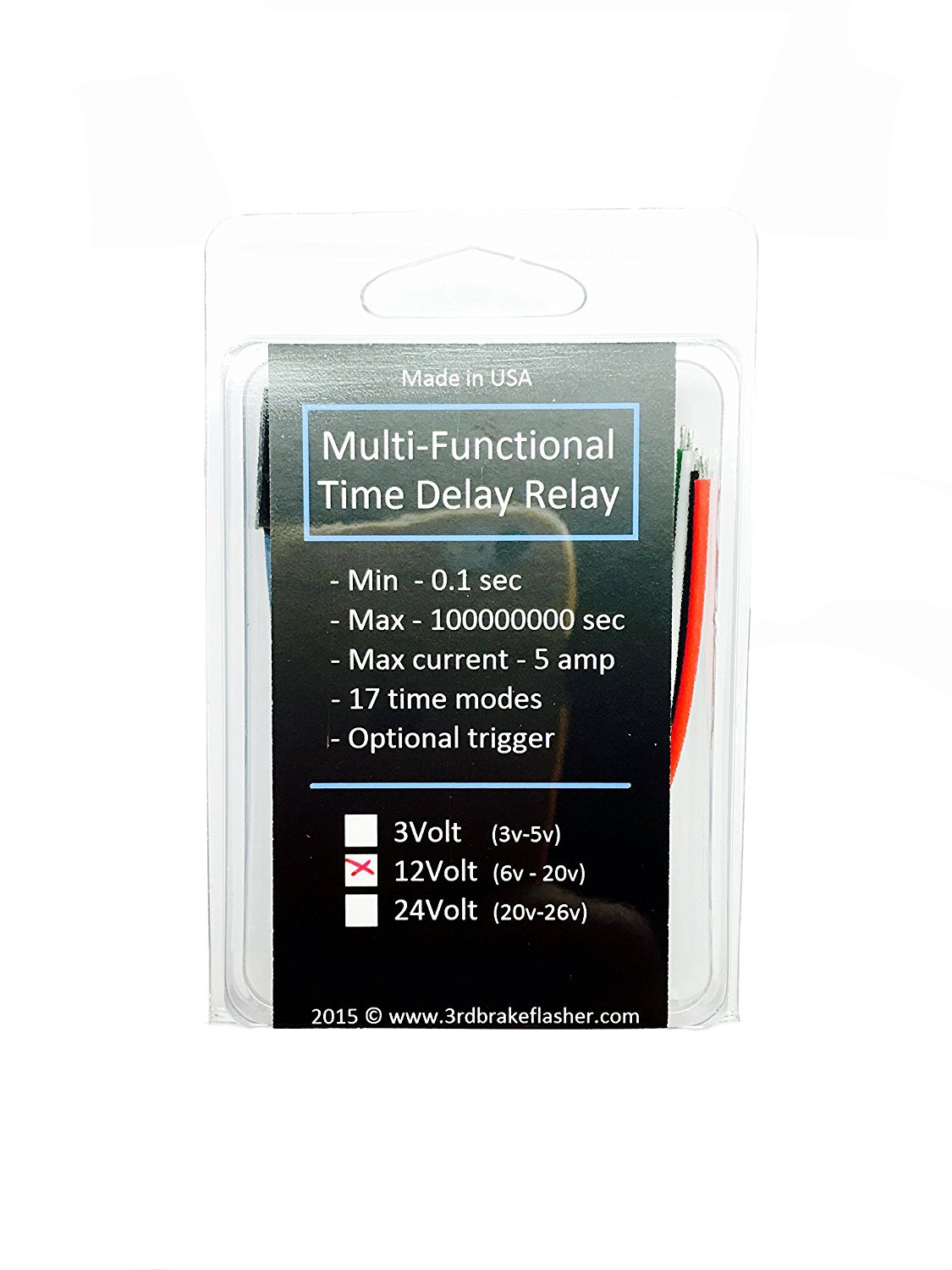Mini Timer Time Delay Relay .2 Sec to 1000 Hours. 12V 5A. Power on or Off  Delay, Cycling and More - - Amazon.com