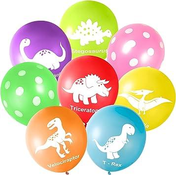 Amazon.com: Globos de látex de dinosaurios de FEPITO para ...