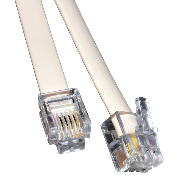 kenable ADSL Broadband Modem Cable RJ11 to RJ11 WHITE 1m (~3 feet) Short Lead 005771