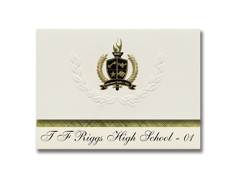 Signature Ankündigungen T F Riggs High School – – – 01 (Pierre, SD) Graduation Ankündigungen, Presidential Stil, Elite Paket 25 Stück mit Gold & Schwarz Metallic Folie Dichtung B078VCRR1Q | Verschiedene Arten und Stile  2a7e22