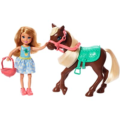 Barbie Club Chelsea Doll and Horse, 6-Inch Blonde, Wearing Fashion and Accessories, Gift for 3 to 7 Year Olds: Toys & Games
