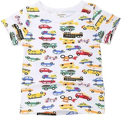 Mealeaf ❤️️ Niños Niñas Niñas Niños Letra Coche Estrella Print Camiseta Tops Camisetas 24 Meses 7t - Blanco - 6 años: Amazon.es: Ropa y accesorios