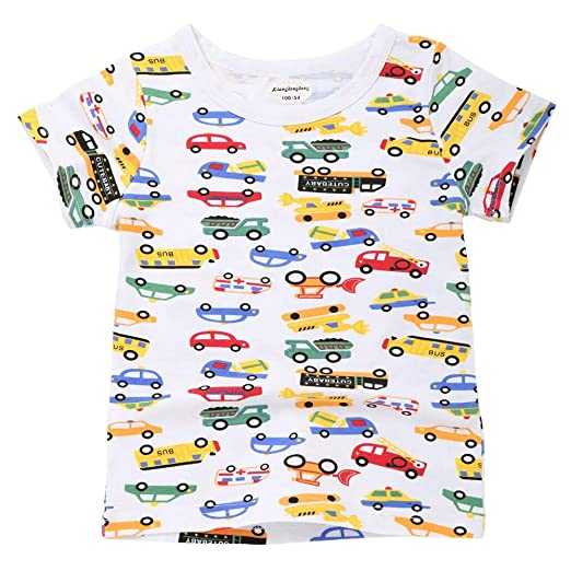 Amazon.com  ❤ Mealeaf ❤ Children Infant Kid Girls Boys Letter Car Star Print  T-Shirt Tops Shirts Tee 24 Months-7t  Clothing 87744ad2e