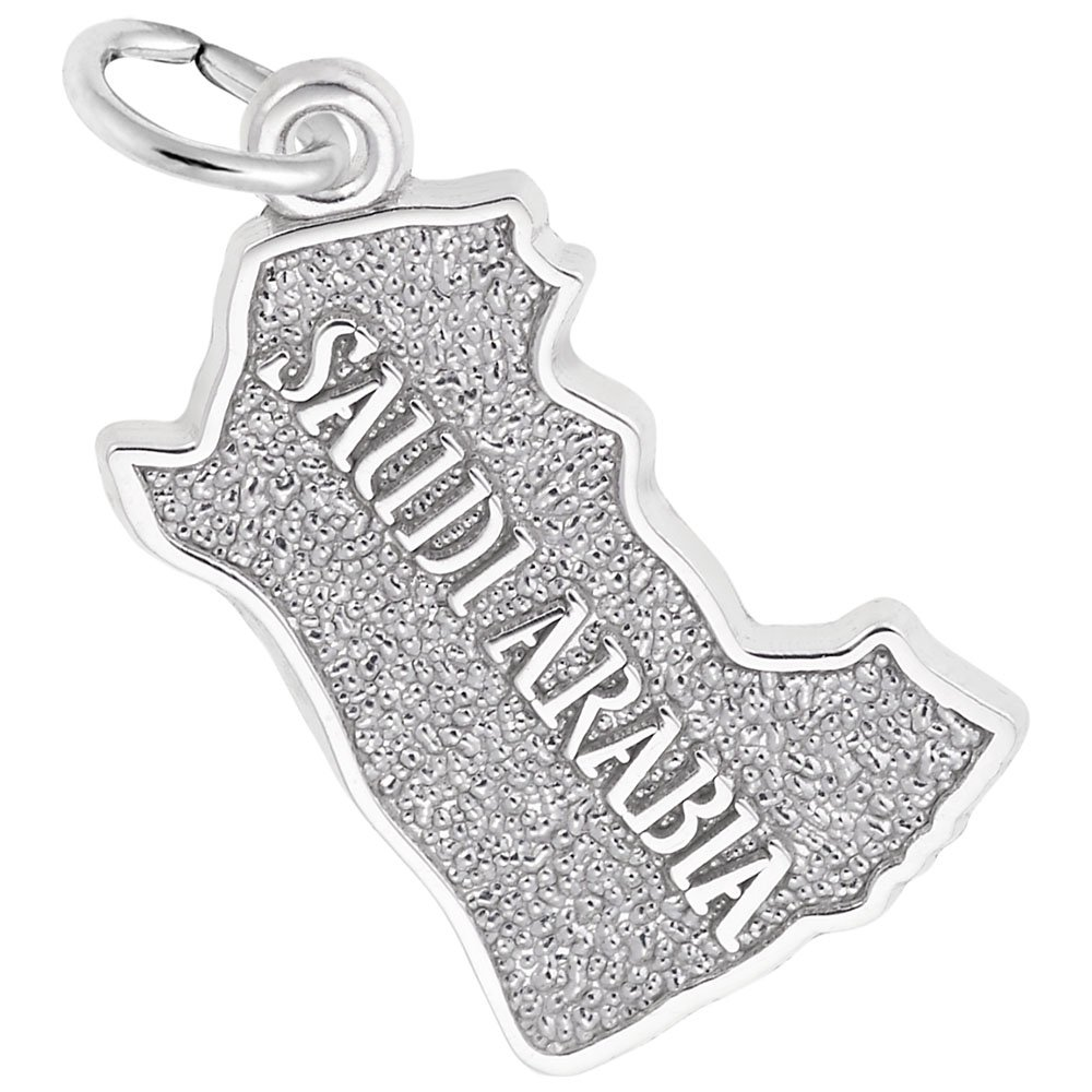 Charms for Bracelets and Necklaces Saudi Arabia Map Charm