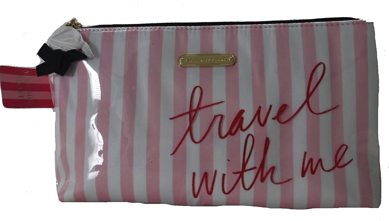 Victorias Secret Glamorous - Neceser, diseño de rayas, color rosa: Amazon.es: Belleza