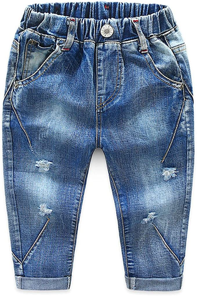 Broken Hole Pants Casual Jeans Denim Pants For Boys and Girls Kids Clothes