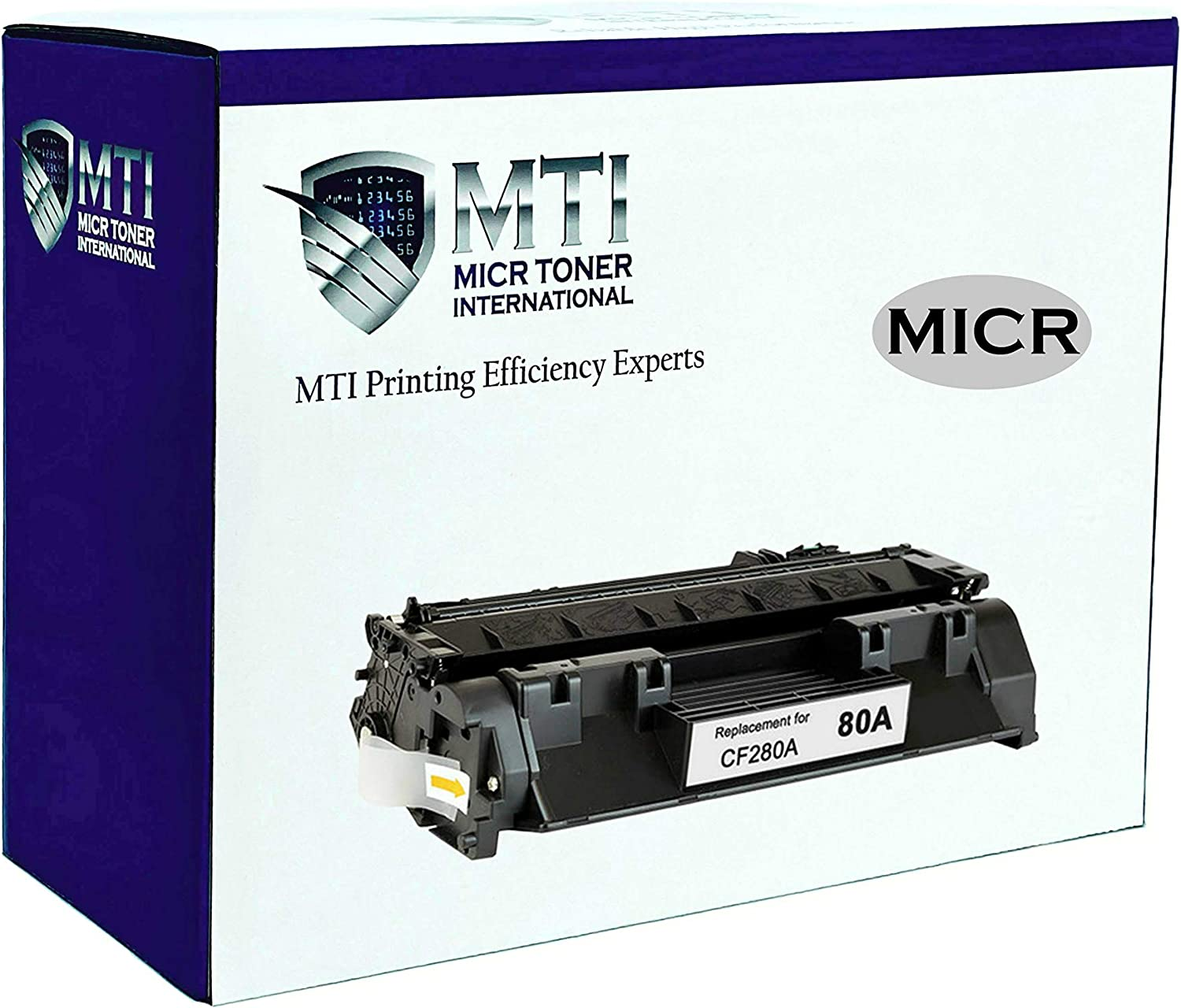 MICR Toner International Magnetic Ink Cartridge Replacement for HP 80A CF280A LaserJet Pro 400 Printers