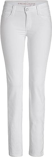 MAC damskie dżinsy Dream 5401 białe denim D010: Odzież