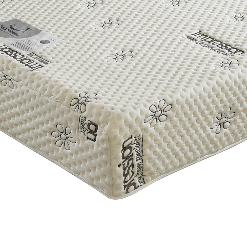 Happy Beds 2000Orthopädisches Memory Visco Regular Matratze, verschiedene Größen, Textil, Weiß, 180 x 200 cm