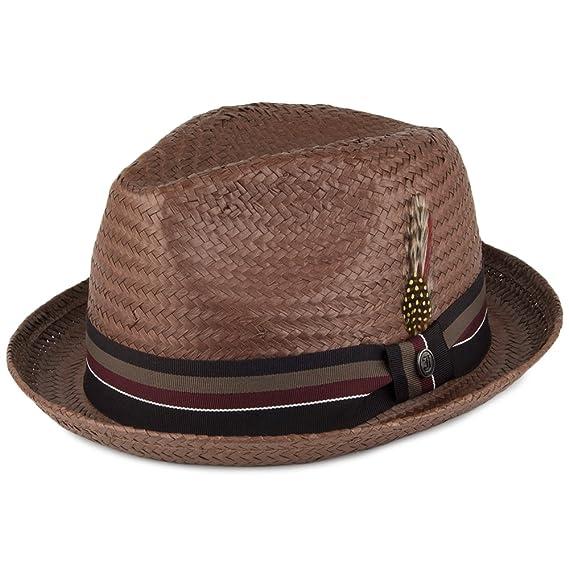 636635de Jaxon & James Tribeca Straw Trilby Hat - Brown: Amazon.co.uk: Clothing