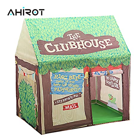 size 40 a0b85 f17ee AHIROT Kids Play Tent Indoor Outdoor Pop-Up Playhouse Tent for Boys/Girls  Fun Birthday Gift Children Castle Green