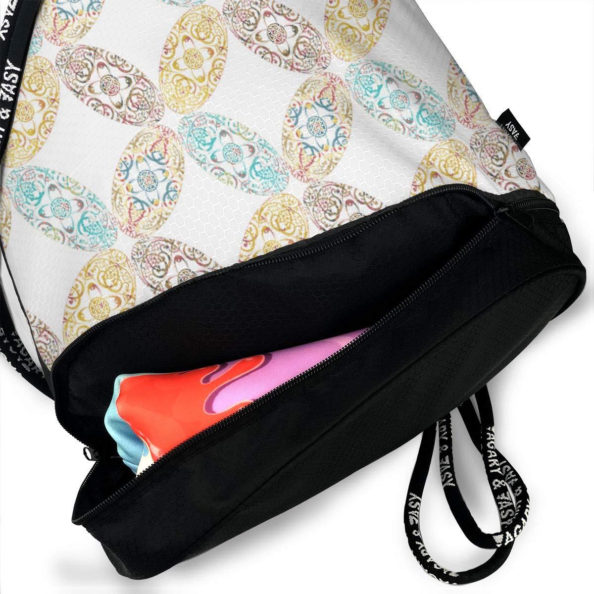 Sprudla Ellipse All Tilt Drawstring Backpack Sports Athletic Gym Cinch Sack String Storage Bags for Hiking Travel Beach