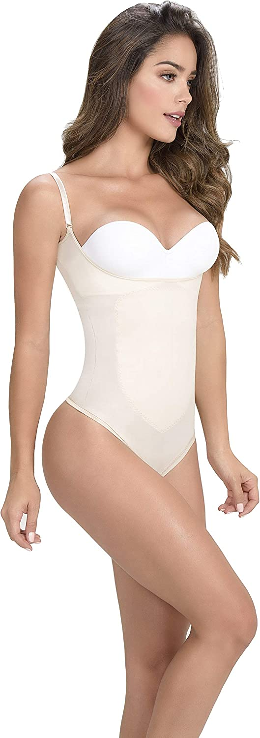 Body Shapers Braless Body Shaper Thong Lift Up The Breast Shapewear Nude
