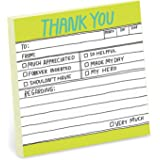 1-Count Knock Knock Thank You Hand-Lettered Sticky Notes, Thank You Notes, 3 x 3-inches Each