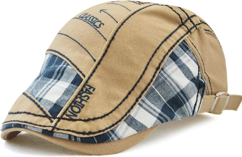 Sagiwo 100/% Cotton Patchwork Casual Beret Visor Cap Men Women Hat Retro Casquette Adjustable