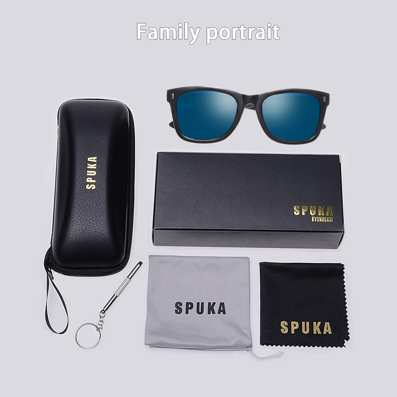 Unisex Polarized Sunglasses UV 400 Protection Retro Design Sunglasses with PC Frame