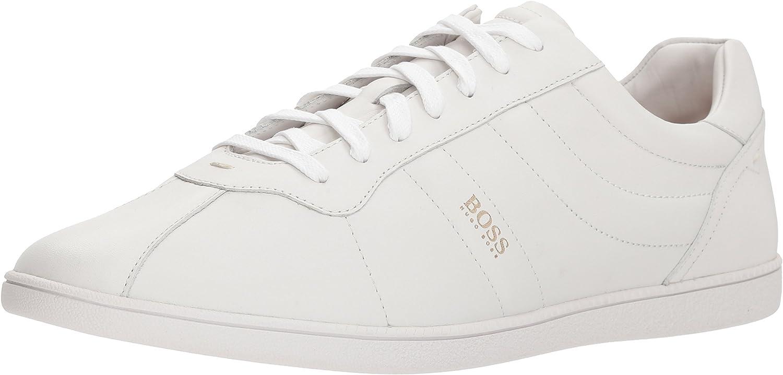 Hugo Boss BOSS Orange Mens Rumba Leather Tennis Sneaker Construction Shoe