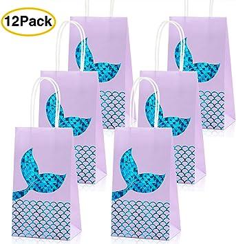 Amazon.com: Bolsas de fiesta de sirena de sirena para regalo ...