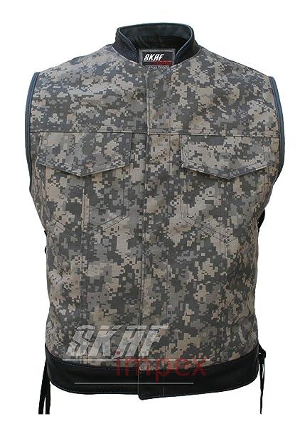 Amazon.com: Chaleco para hombre, diseño de camuflaje militar ...