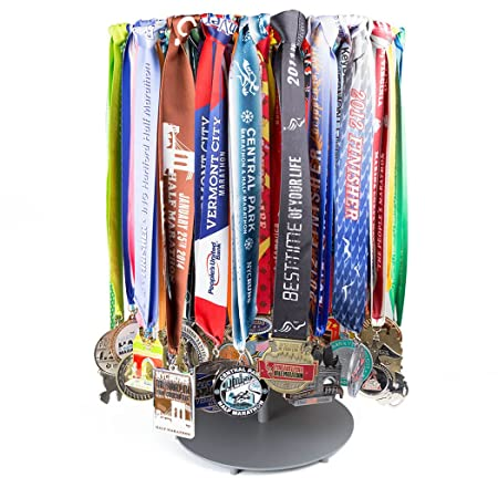 Gone For a Run Premier Tabletop Running Race Medal Display Holds Over 60 Medals