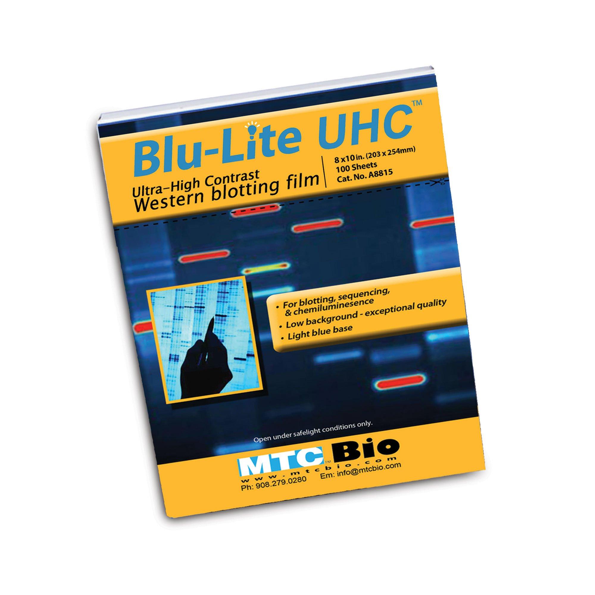 BluLite UHC Autoradiography Film, 8'' x 10''