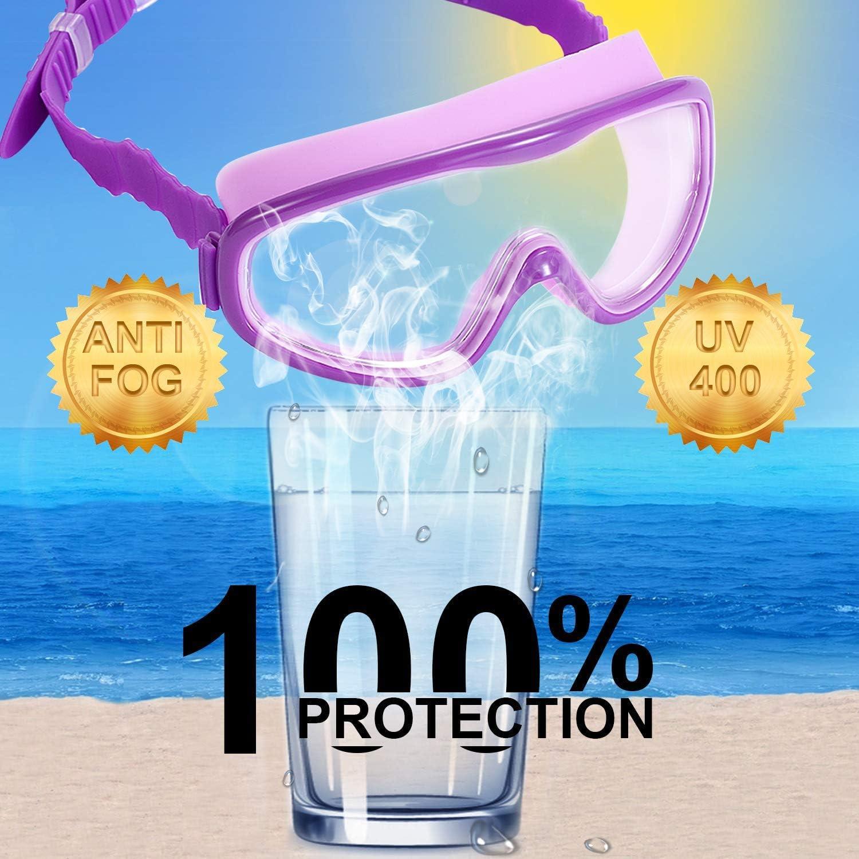 imperm/éable Large Vision Protection UV Yizerel Lot de 2 Paires de Lunettes de Natation pour Enfants et Adolescents de 3 /à 15 Ans antibu/ée