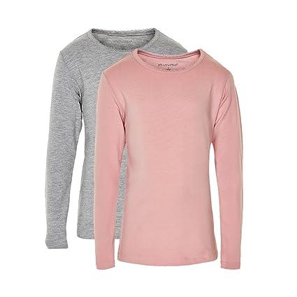 3e3c42210 Minymo 3935 - Pack de 2 camisetas de manga larga para niña, de 6 a 7 ...