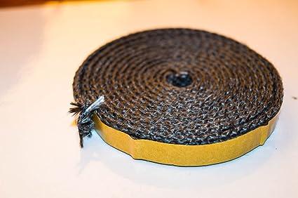 Un metro cristal cuerda de la madera para estufa de cristal cinta de sellado térmico adhesivo