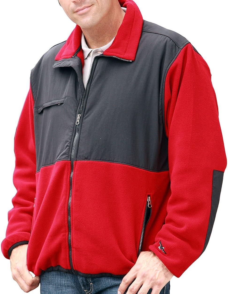 Bg-9950 5XL-REG, POLAR RED Mens Color Block Jacket