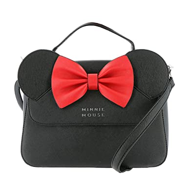 0ac3b4b40405 Amazon.com: Loungefly Faux Leather Minnie Mouse Crossbody Bag ...
