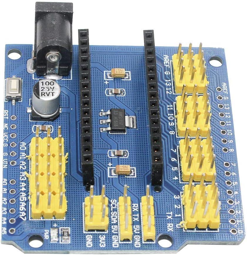 3pcs Nano Pro Compatible UNO R1 Duemilanove 2009 Organizer Nano I//O Expansion Sensor Shield Module for Arduino UNO R3 Nano V3.0