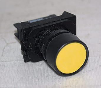 Momentary Push Button Switch 600VAC Max Yellow Allen-Bradley